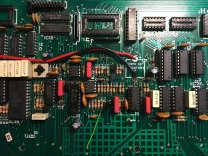 Opera 6 CPU board (top) serviced